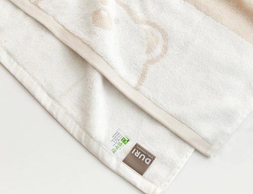 두리 대나무 유아목욕타월