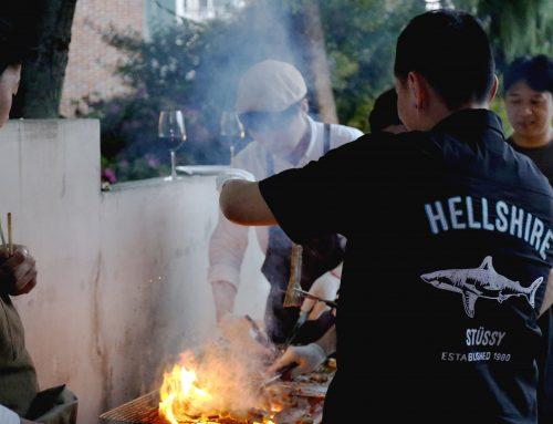 5월,가든에서의 바베큐 파티
